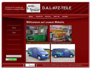 dal-kfz-teile.de website preview