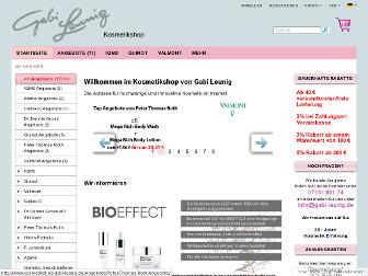 kosmetikshop-gabi-leunig.de website preview