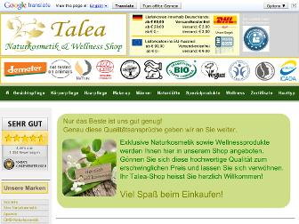 talea-naturkosmetik.de website preview