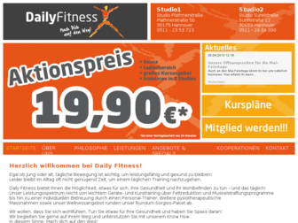 dailyfitness.de website preview