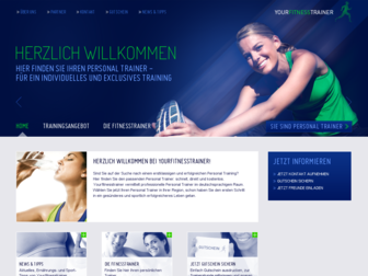 yourfitnesstrainer.de website preview