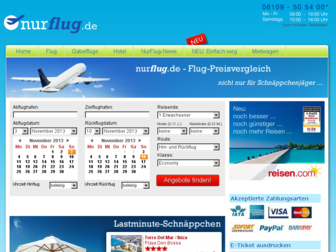 nurflug.de website preview