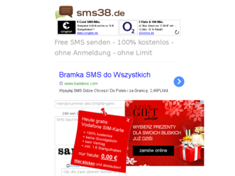 sms38.de website preview