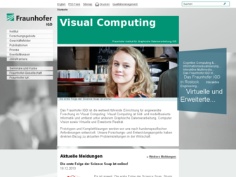 igd.fraunhofer.de website preview
