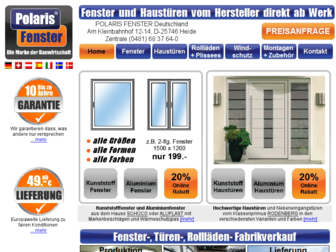 polaris-fenster.de website preview