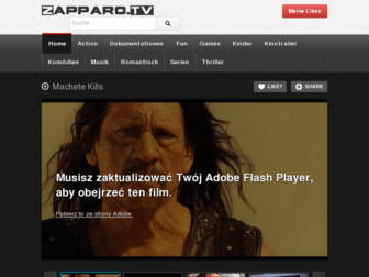 zapparo.tv website preview