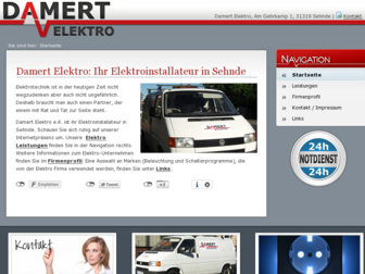 damert-elektro.de website preview
