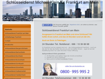 schluesseldienst-frankfurt-klein.de website preview