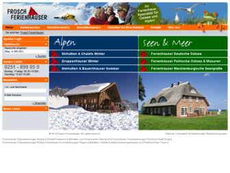 frosch-ferienhaus.de website preview