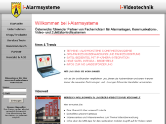 i-alarmsysteme.at website preview