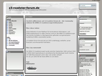 z3-roadster-forum.de website preview