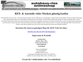 kfz-ries.de website preview