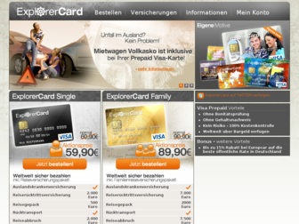explorercard.de website preview