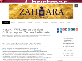 zahara-parfuemerie.de website preview