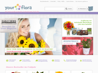 yourflora.de website preview