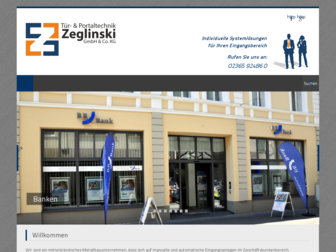 zeglinski.de website preview
