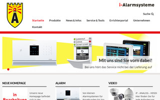 i-alarmsysteme.ch website preview