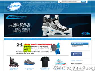 icesports.at website preview