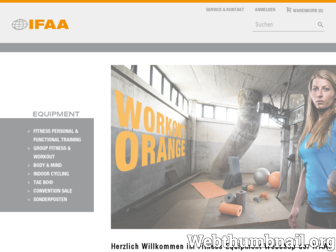ifaa-equipment.de website preview