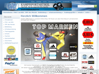 bay-kampfsport.de website preview