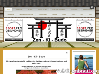 zen-ki-budo.de website preview