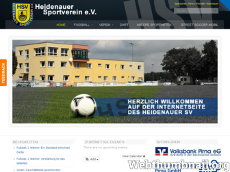 heidenauersv.de website preview