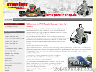 iame-parolin-shop.de website preview