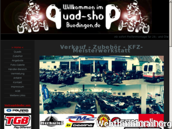 quad-shop-buedingen.de website preview