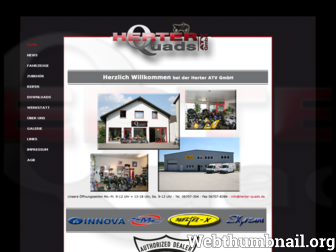 herter-quads.de website preview