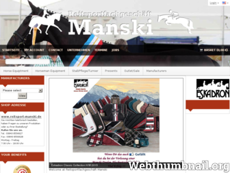 reitsport-manski.de website preview