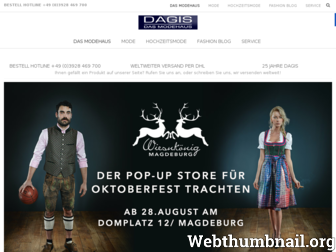 dagis-mode.de website preview