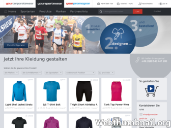 yoursportswear.de website preview