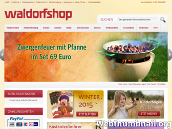 waldorfshop.eu website preview