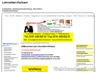 lehrmittel-vierkant.de website preview