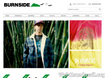 burnsideshop.de website preview