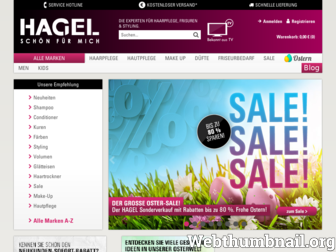 hagel-shop.de website preview