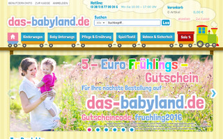 das-babyland.de website preview