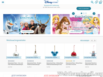 disneystore.de website preview