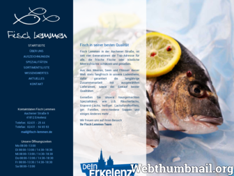 fischlemmen.de website preview