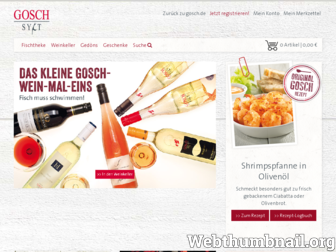 shop.gosch.de website preview