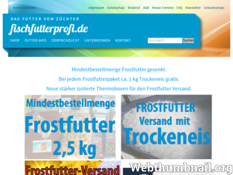fischfutterprofi.de website preview