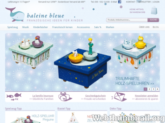 baleine-bleue.de website preview