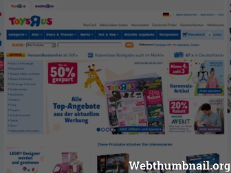toysrus.de website preview