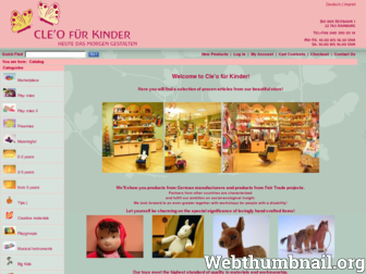 cleokinderladen.de website preview