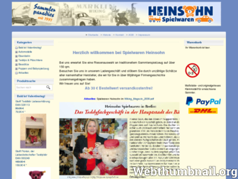 heinsohn-spielwaren.de website preview