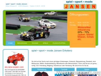 spielwaren-jansen.de website preview