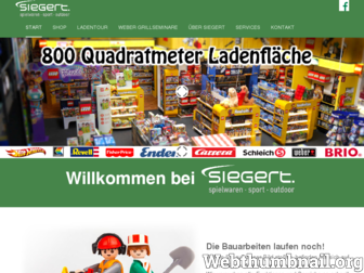 siegertonlineshop.de website preview